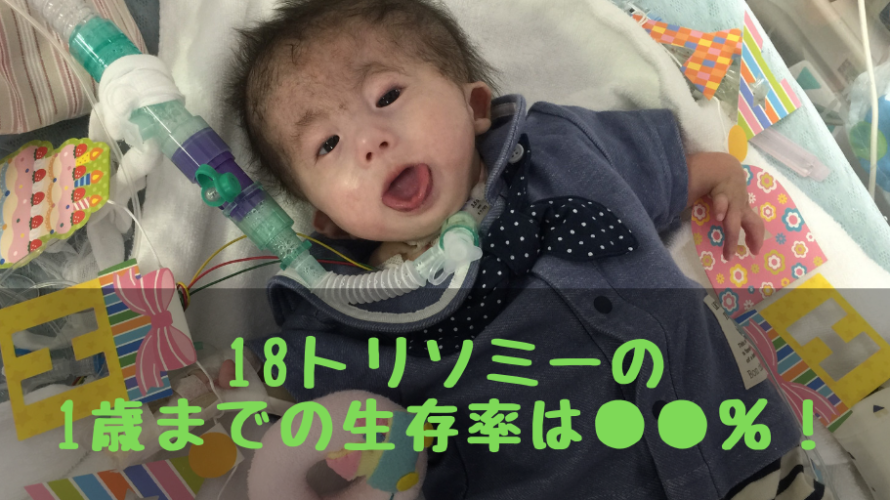 18トリソミーの1歳までの生存率は産まれてくる赤ちゃんのうち結局何%なのかを計算してみました!
